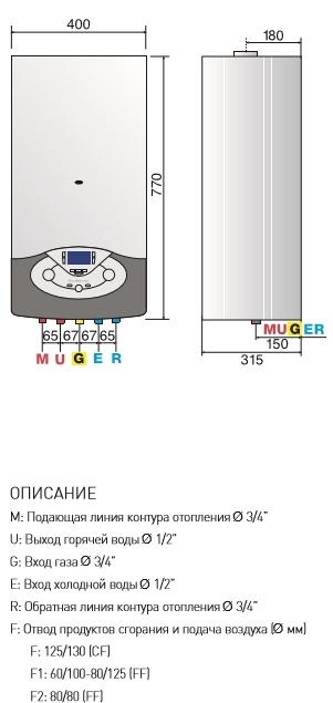 инструкция газовый котел ariston