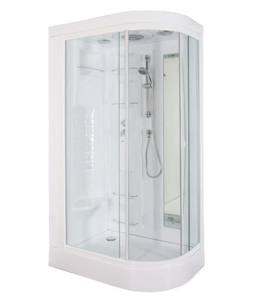 Душевая кабина Aquanet Hawaii R прозрачное стекло, без г/м примеры больших ванных комнат